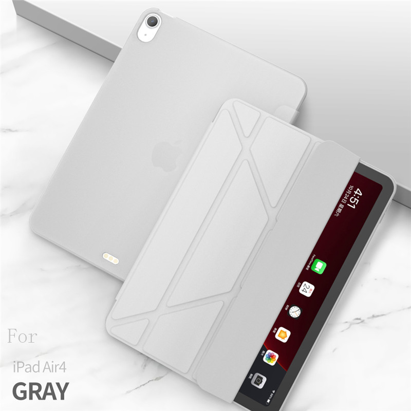 gray Gray Case For iPad Air 4 Case 2020 ipad Air 10 9 inch Funda Smart Stand Cover