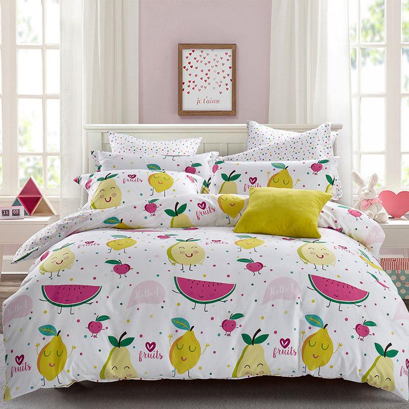 Dohia Cute Sweet Four-piece Set Girl's Dormitory Bedding Article Cotton 100% Cotton 4-piece Set Wholesale