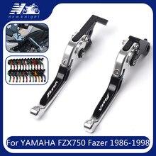 Dla Yamaha FZX750 FZX 750 Fazer 1986-1998 1997 z Logo 20 kolorów motocykl CNC aluminium składane wysuwane dźwignie sprzęgła hamulca