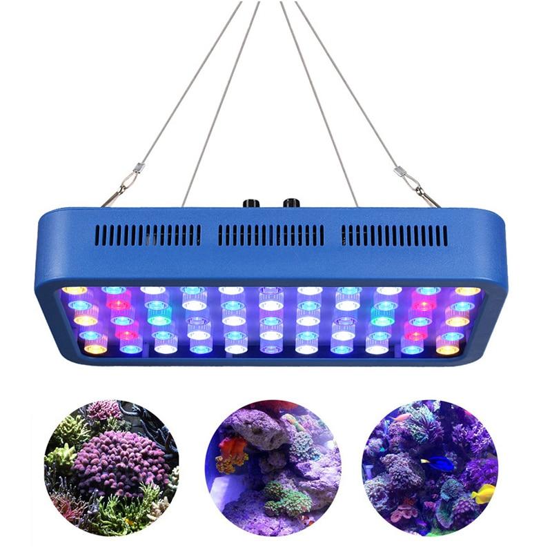 165W lumière d'aquarium AC100-240V lampe à LED couleur rouge, bleu, idéal pour toutes sortes d'herbe de l'eau, corail, poisson à tous les stades de croissance