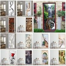 Door-Sticker Wallpaper Waterproof Poster Self-Adhesive Renovation The-Doors Bedroom DIY