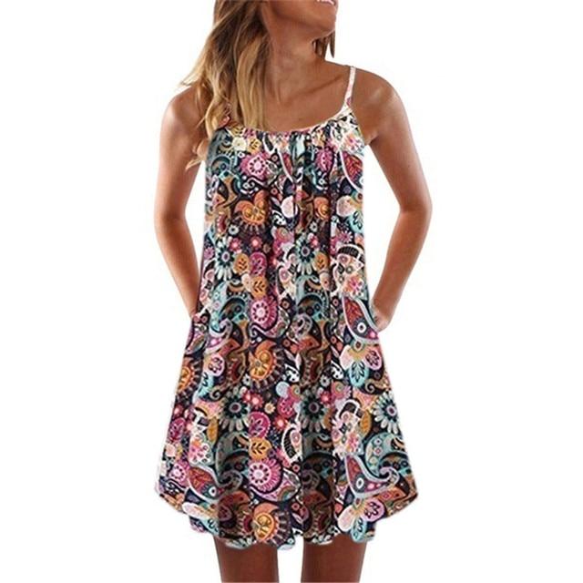 Loose Beach Dress With Spaghetti Straps 3