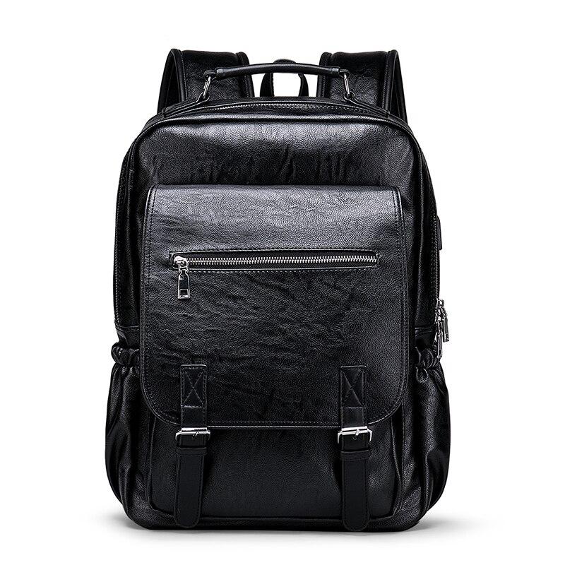 BOPAI, деловой мужской рюкзак, черный, с USB зарядкой, Противоугонный, рюкзак для ноутбука, 15,6 дюймов, мужской, большой емкости, школьные сумки дл... - 2