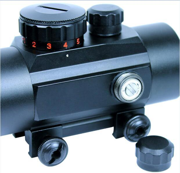 Funpowerland Scopes 1x40 rouge vert point pointeur chasse vue éclairée 20mm & 11mm Rail
