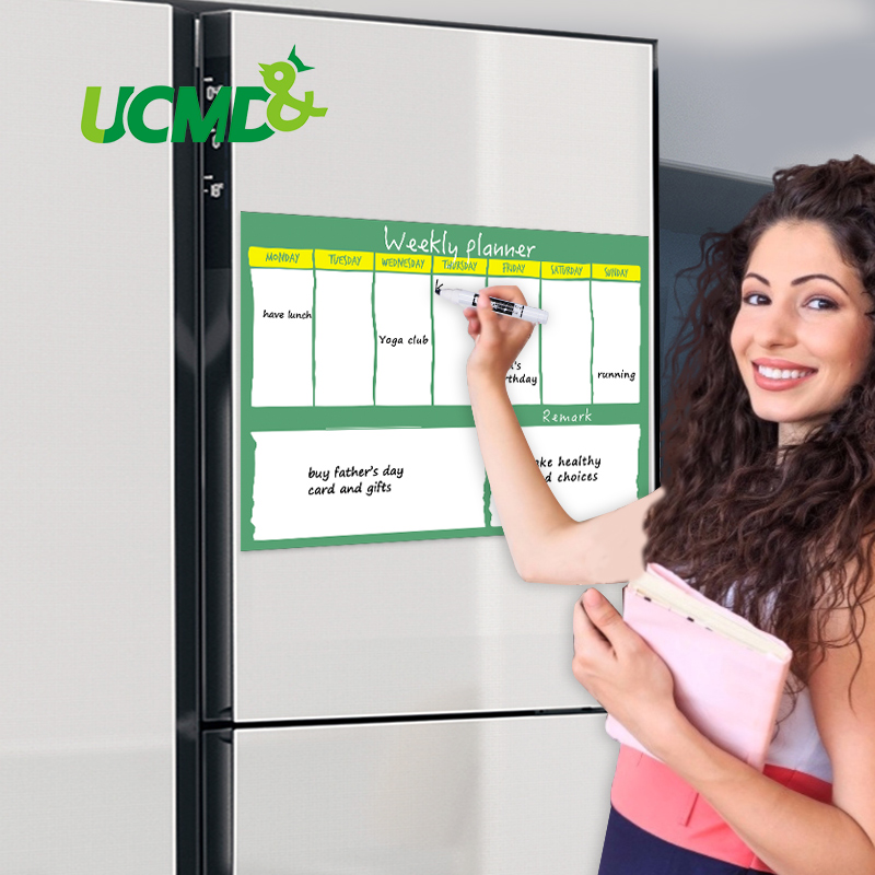 Magnetic Weekly Planner Whiteboard Home Fridge Office Dry Wipe Calendar Schedule To Do List Family Meal Plan Memo Message Board