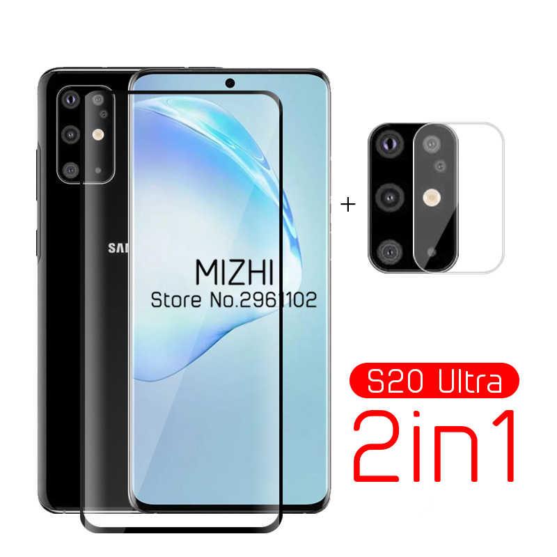 2 In 1 Pelindung Kaca untuk Samsung Galaxy S20 Ultra Kamera Pelindung Layar untuk Samsung S 20 S20 Plus S20 + Tremp Kacamata Film