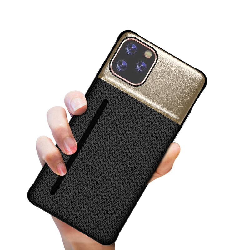 PU Leather Matter Hard PC <font><b>Case</b></font> For iPhone 11 Pro Max Luxury <font><b>Card</b></font> Slot Holder <font><b>Case</b></font> For <font><b>iPhone6</b></font> 6S 7 8 Plus XR XS MAX 11Pro Cover image