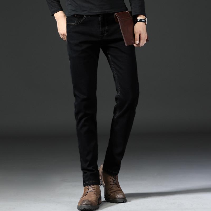 Men Business Cowboy Trousers Men's Elasticity Medium Waist Straight-leg Pants MEN'S Jeans Spring And Summer New Style Simple Fas
