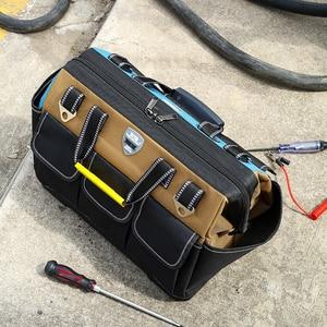 Image 5 - YINLONGDAO Large Capacity Tool Bag, Multi function Electrician Bag, Anti fall and Wear resistant Woodworking Bag