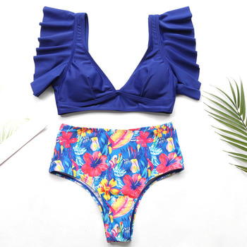 Riseado Sexy Ruffle Bikinis Women 2020 Push Up Swimwear Floral Print Swimsuits High Waisted Bathers Summer Beach Wear 1