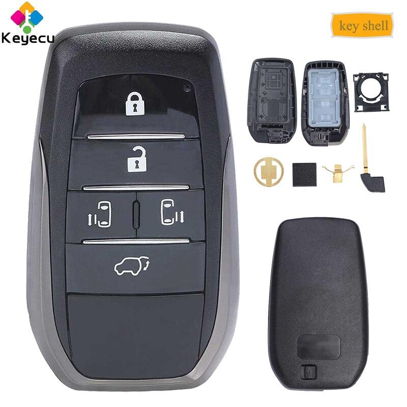 Замена KEYECU Smart Prox пульт дистанционного управления автомобильный ключ оболочка чехол Корпус с 6 кнопками FOB для Toyota Vellfire Alphard Previa