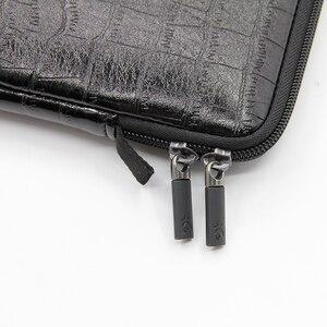 Image 4 - Waterdichte Lederen Laptop Sleeve Bag Notebook Case Cover Pouch Voor 12 13 15 inch Macbook Air Pro Retina