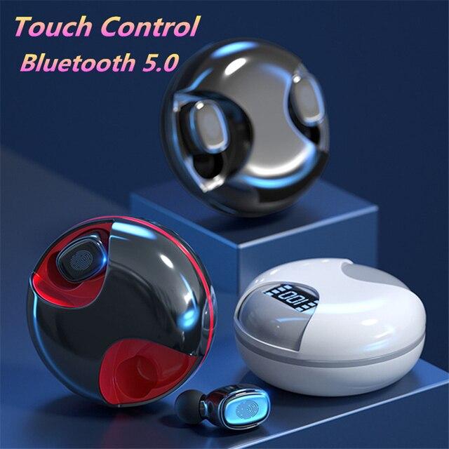 Écouteurs sans fil Bluetooth 5.0 TWS, oreillettes de sport, casque de jeu, étanches, avec boîte de chargement