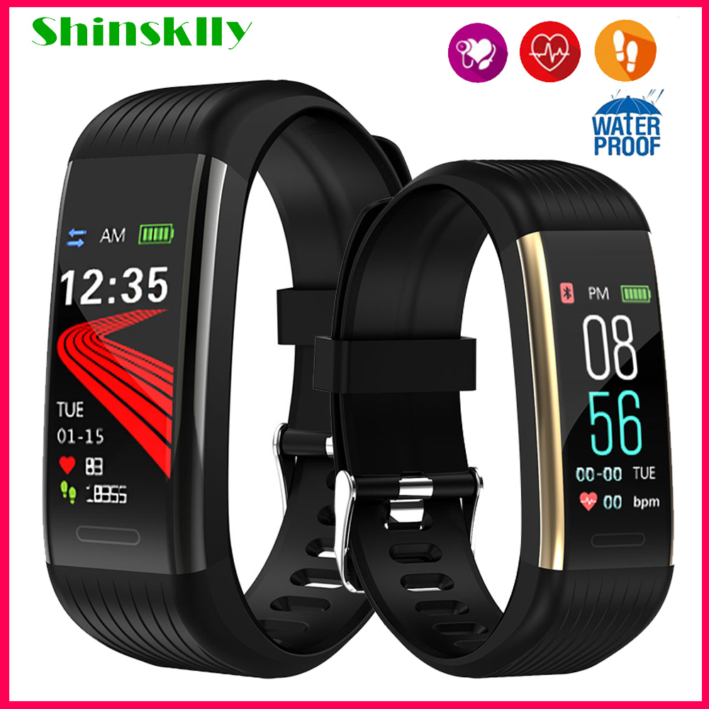 Smart Bracelet Men Blood Pressure Waterproof Fitness Bracelet Pedometer Heart Rate Monitor Fitness Tracker Watch For Android IOS