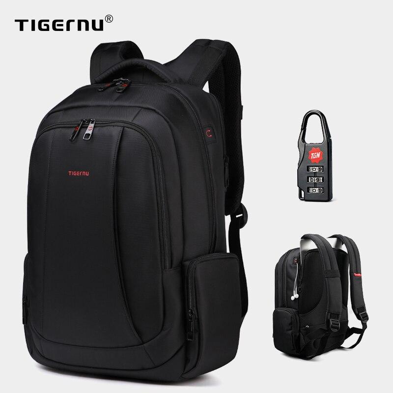 Tigernu Anti-vol Nylon 27L hommes 15.6 pouces sacs à dos d'ordinateur portable école mode voyage sac à dos sac à dos mâle sac à dos pour ordinateur portable