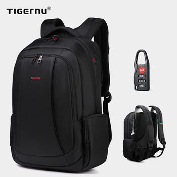 Tigernu Anti Theft Nylon 27L Men 15.6 inch Laptop Backpacks School Fashion Travel Backpacking Backpack Male Backpack For Laptop