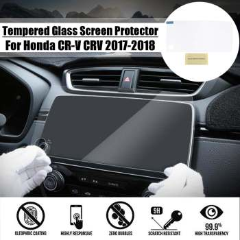 27x12.5cm Car Display GPS Navigation Screen Protector 9H 0.3mm Tempered Glass For Honda for CR-V for CRV 2017 2018 image