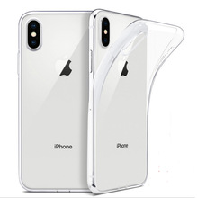 Phone-Case Soft-Silicone-Cover Transparent Ultra-Thin 8-Plus Xs Max for 11 12-pro/Mini/6/..