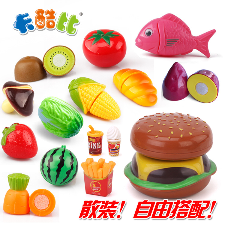 Qieqiele Bulk Children Play House Qieqie Vegetables Fruits Qieqie Kindergarten Toy Teaching