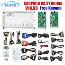 Carprog V8.21 онлайн V10.93 Авто ECU чип тюнинг полный универсальный инструмент для ремонта автомобиля прог Carprog 8,21 Бесплатный Keygen онлайн-программатор