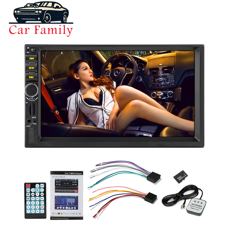 <font><b>7021G</b></font> Autoradio Car Audio 2 Din GPS Navigation 7'' LCD Touch Screen MP5 Auto <font><b>Radio</b></font> Stereo Bluetooth FM Car Multimedia Player image