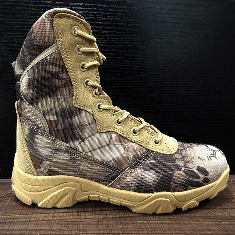 Bottes militaires Combat armée Camouflage 2019 chaussures d'hiver hommes Oxford tissu à lacets tactique botte de neige travail hommes chaussure 39-40 - 3