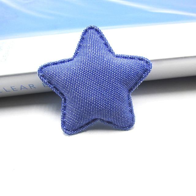 30pcs/lot  Denim fabric Rabbit head/star/crown padded appliques for Childrens headwear accessories, DIY Suppliers