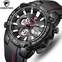 Ghepardo orologi da uomo Top Luxury Brand Fashion Sport Watch per uomo cronografo orologio da polso al quarzo impermeabile orologio da uomo in Silicone