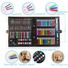 150Pcs/Set Kids Art Drawing Painting Tool Marker Pens Wax Crayon Oil Pastel Gift for children