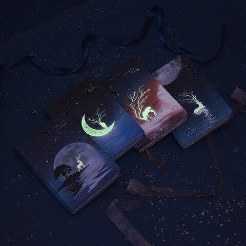 a5 criativo luminoso estrelado noite sonho caderno