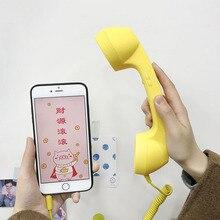 Lcolorant haute qualité classique rétro 3.5mm confort téléphone combiné Mini micro haut parleur téléphone appel récepteur pour Iphone Samsung Huawei