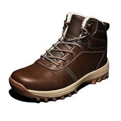 2019 Botas De Neve Homens Sapatos de Inverno Botas Homens Tornozelo Sapatos Quentes À Prova D' Água para o Frio Wnter Masculino Calçado High top Sneakers a1822