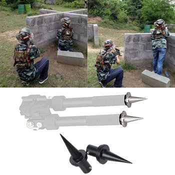 2pcs Bipod Spike Quick Change Aluminum Feet Replacement Fit for Atlas Bipod Fixed needle Tripod accessories Hunting Supplies 4