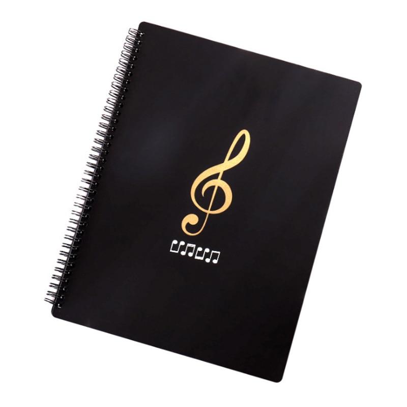 1pc A4 Multi-layer 20/30/40/50 Page Waterproof Music Folder File Plastic Data Bag Filing Products Music Score Paper Piano Folder