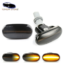 For Acura Civic Del Sol S2000 LED side marker turn signal indicator dynamic lights Amber Car accessory parts