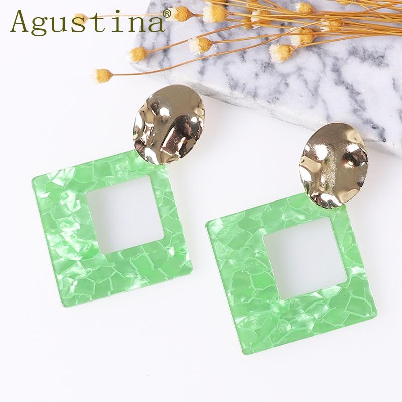 Agustina Acrylic Earrings Fashion Jewelry Women Drop Earings Minimalist Punk Earring Dangle Girls Bohemian Resin Kpop Wholesale