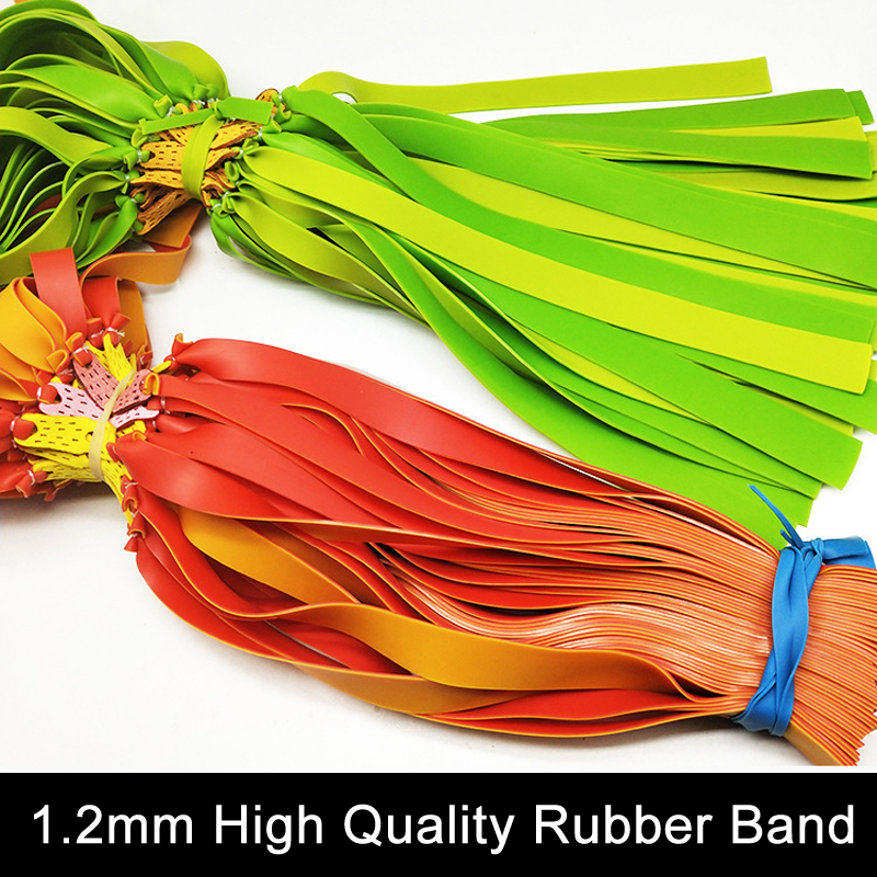 4/8 Pcs Flat Leather Slingshot Used Rubber Band Flat Skin 1.2mm Thickness Double Vulcanization Thickening  Outdoor Hunting Power