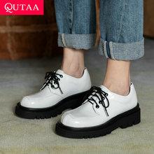 Ladies Shoes Platform Lace-Up Square Women Pumps Round-Toe High-Heel Autumn Size-34-40