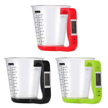 Portable Electronic Scale Measuring Cup Digital Kitchen Scales Beaker Weigh Temperature Measurement Cups Baking Tools image