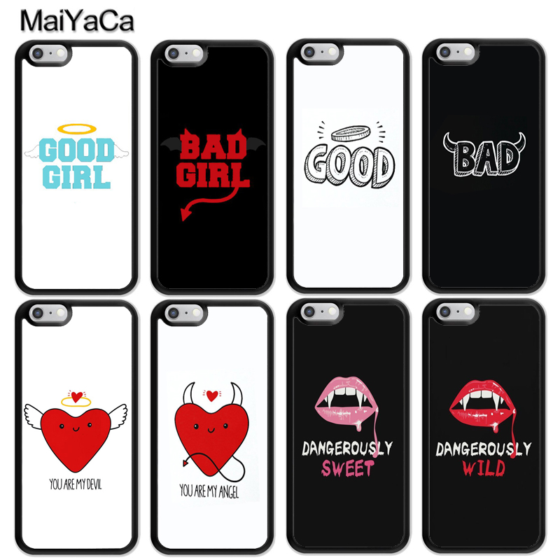MaiYaCa Bad Good Girls <font><b>BFF</b></font> Couple Best Friends Matching <font><b>Case</b></font> For <font><b>iphone</b></font> 11 Pro MAX X XR XS MAX 6 6S 7 8 Plus 5 5S TPU Cover image