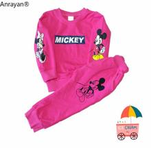 2019 Spring Autumn Baby Boys Clothes T-shirt And Pants 2Pcs Cotton Girls Suits Children Clothing Sets Toddler cartoon Tracksuits недорого