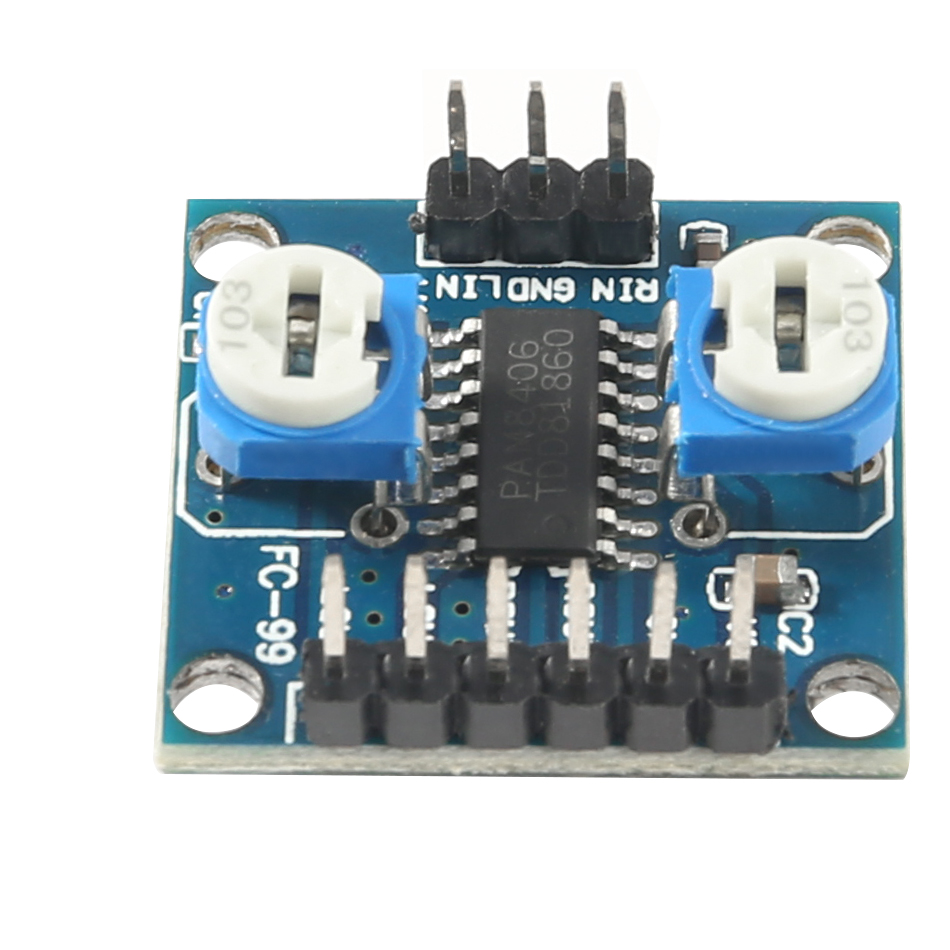 PAM8406 Digital Amplifier Board With Volume Potentiometer 5Wx2 Stereo