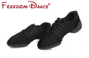 Image 2 - Dance Sneakers For Women Girls Sports Modern Dance Jazz Shoes Lace Up Lightweight Breath Fitness Trainers Practice Shoes