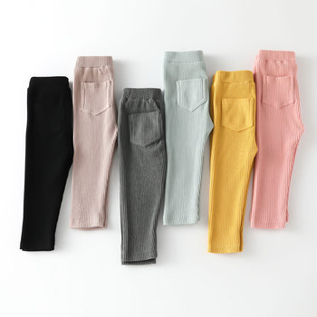 New Baby Girls Boys Leggings Cotton Big PP Pants Spring Autumn Kids Girl Pants Fashion High Waist Long Trousers Children's Pant 1