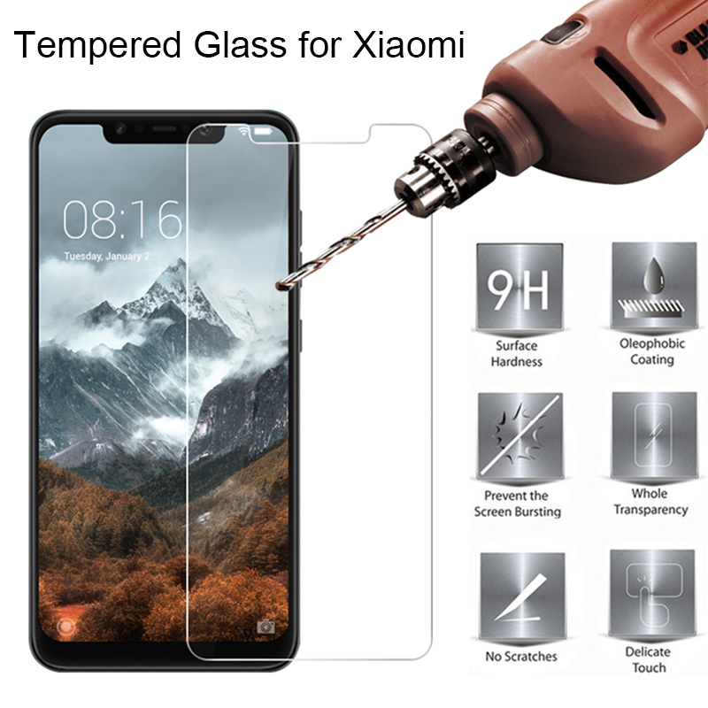 9H Tempered Glass For Pocophone F1 Screen Hard Glass For Xiaomi Mi A2 Lite Mi A1 A2 Glass On Mi4 Mi5s Plus Mi6 Mi Note 3 Mix 2S