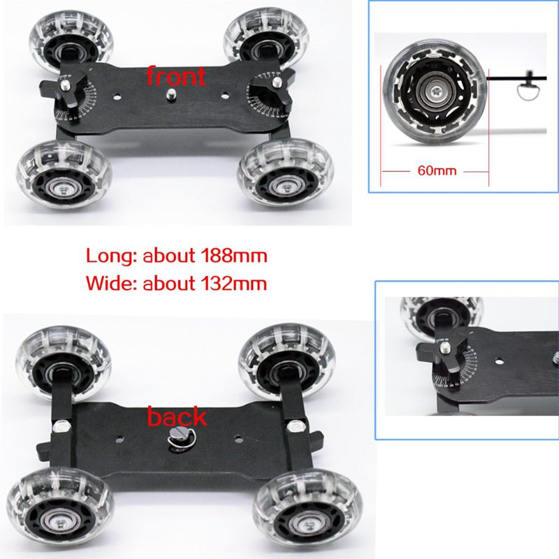 Mobile Rolling Sliding Dolly Stabilizer Skater Slider 11 Inch Articulating Magic Arm Camera Rail Stand Photography Car image