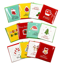 12Pcs/Pack Christmas cards Cute cartoon pattern Greeting-cards Merry xmas New Year 2020 postcard Gift for child