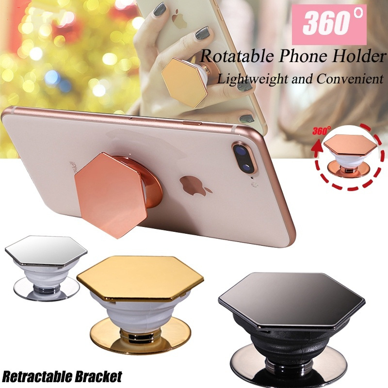 Baseuer Plating Finger Grip Phone Accessories Holder Expanding Stand Bracket For IPhone Huawei Xiaomi Air Bag Socket