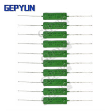 5PCS RX21 6W Wire Wound 5% Resistência Gepyun 1R 10R 100R 15 12 10 1K K K K 18R 20R 22R 24R 27R 30R 33R 36R Resistor RX21-6W