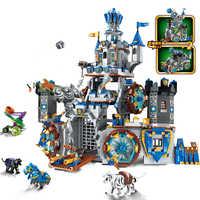 QWZ guerre de gloire château chevaliers la bataille Bunker legos blocs de construction briques éducatives enfants jouet garçon cadeau